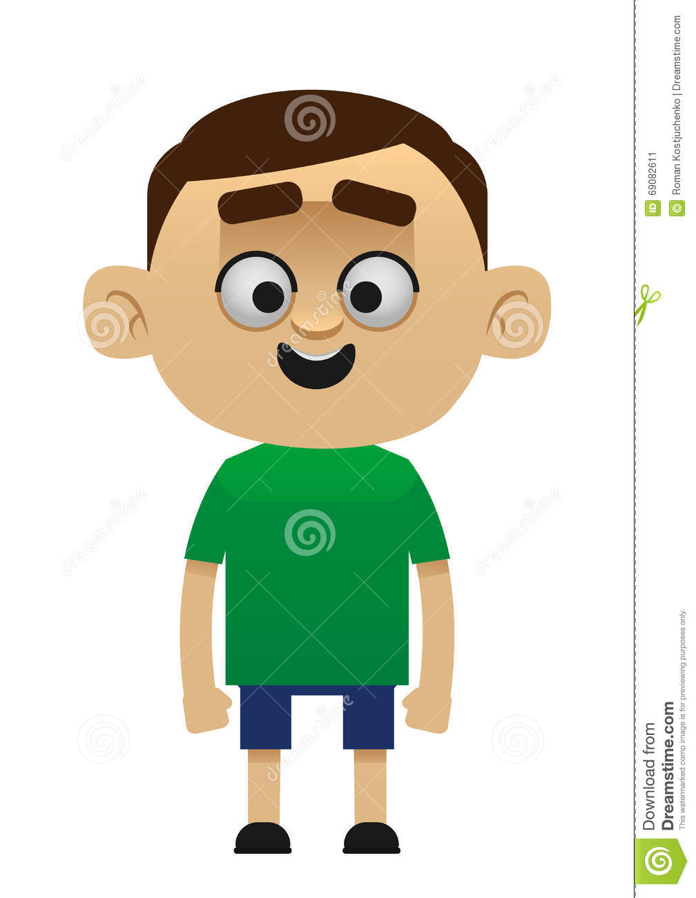 Male Cartoon Character Happy Child Stock Vector - Image: 69082611