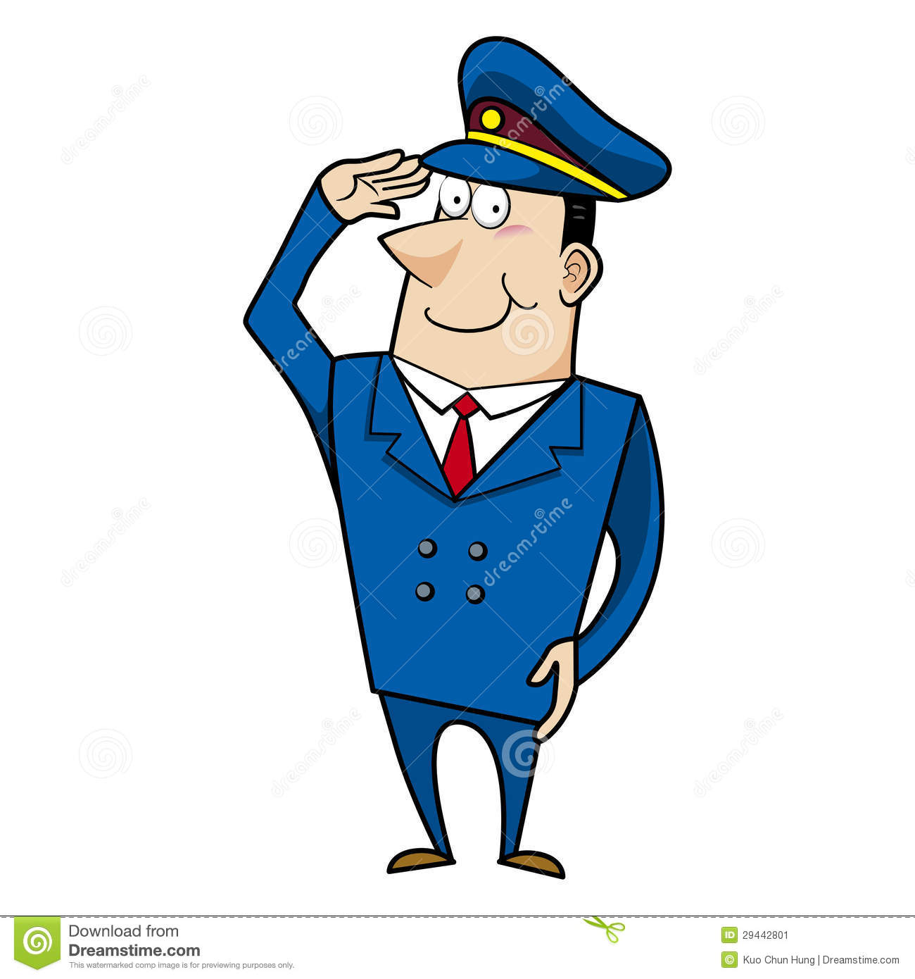 Male Cartoon Police Officer Stock Image - Image: 29442801