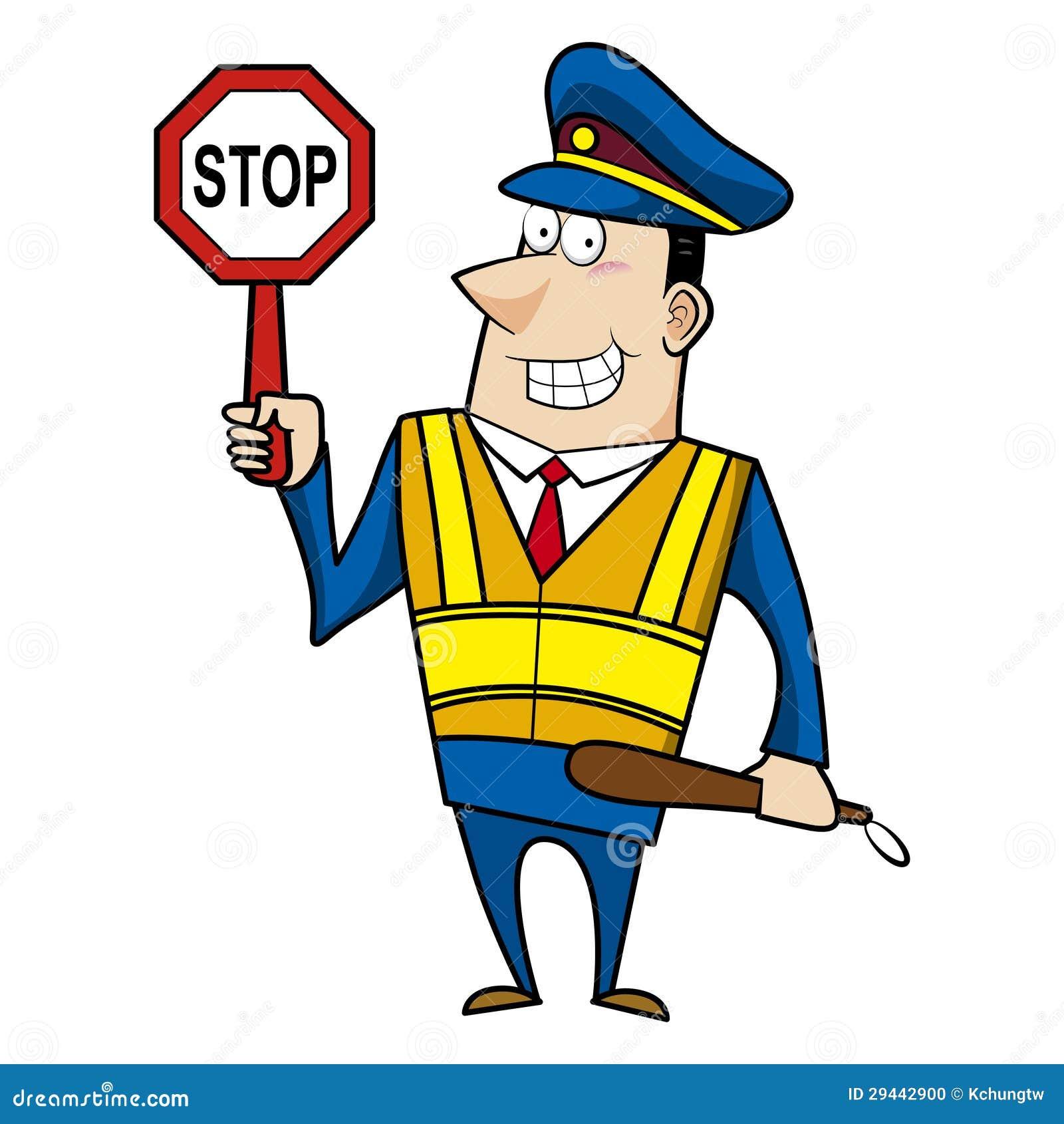 Male Cartoon Police Officer Stock Vector