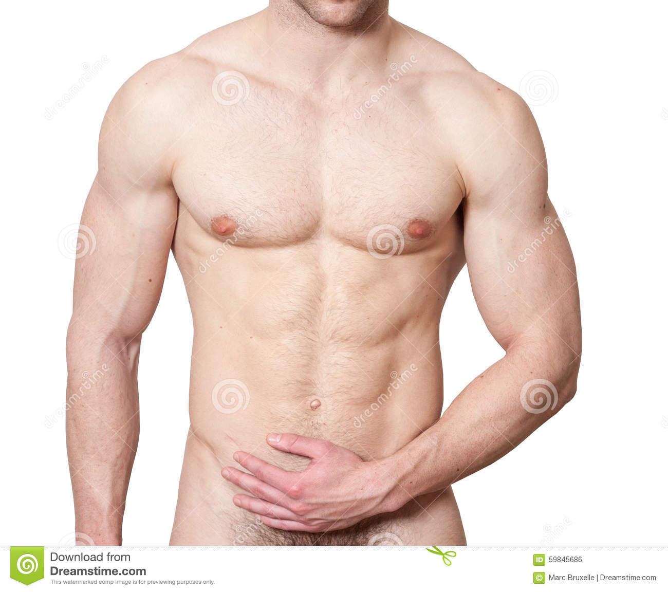male chest stock photo image of attractive hair lean 59845686