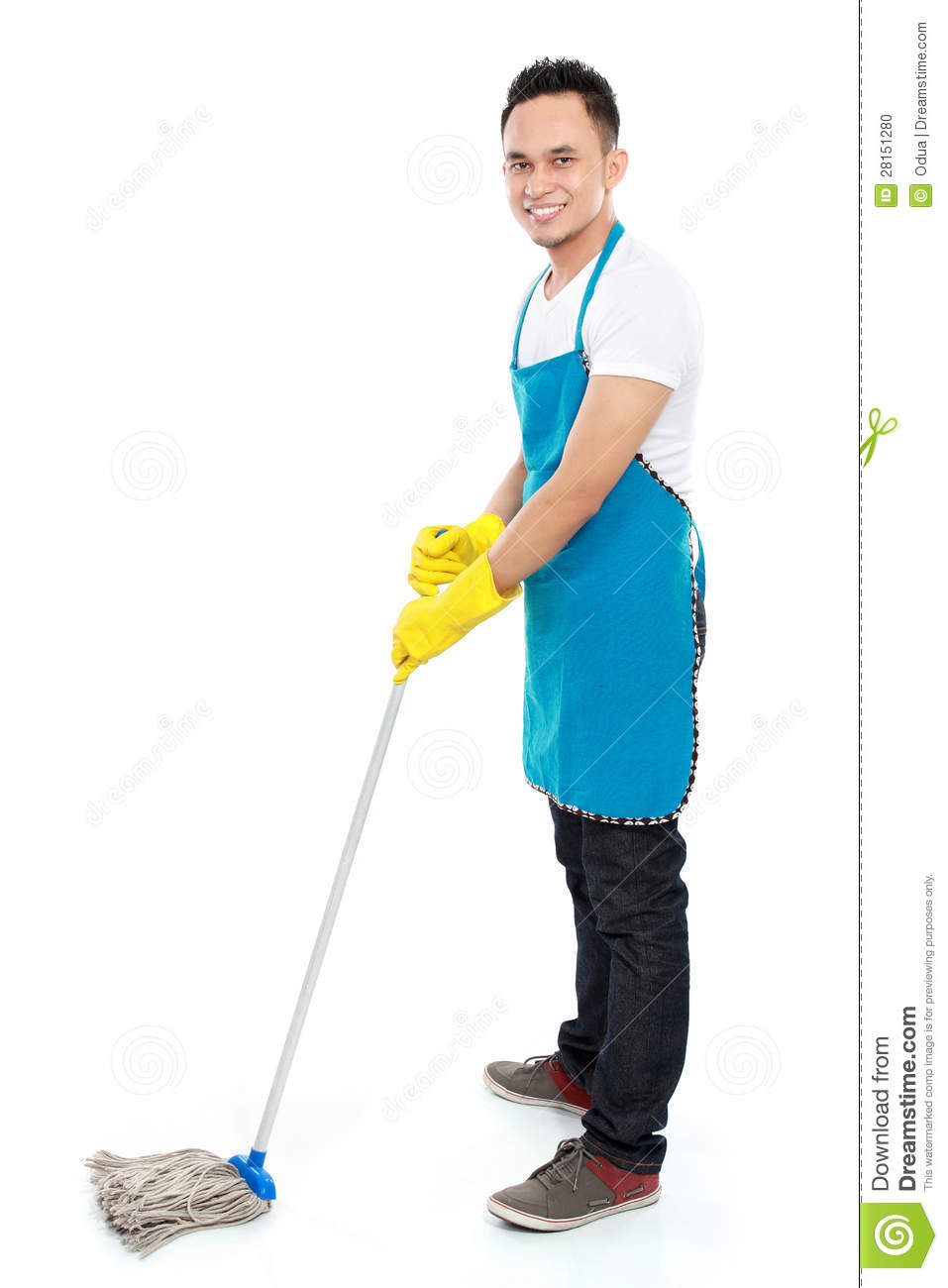 male cleaning service stock photo  image of holding  glove