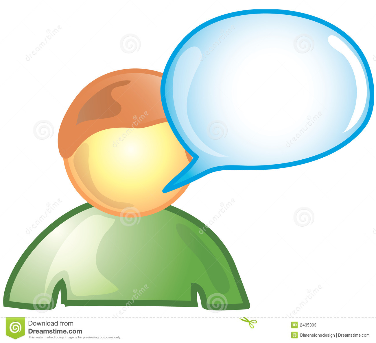 Male Comment Icon Stock Photos Image 2435393