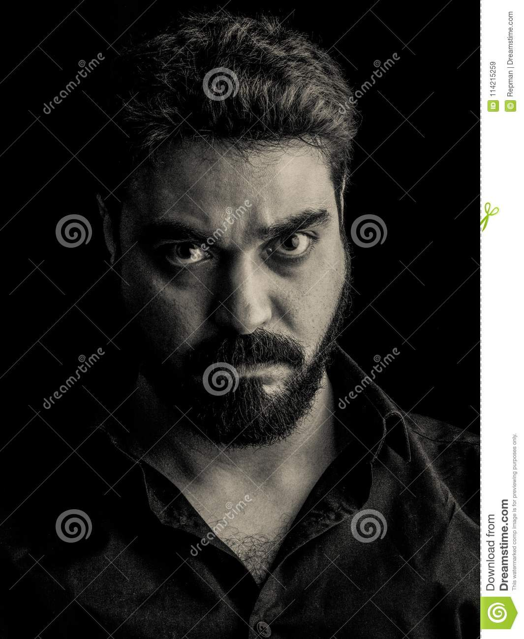 Male Determined Angry Focused Powerful Stock Image Image Of