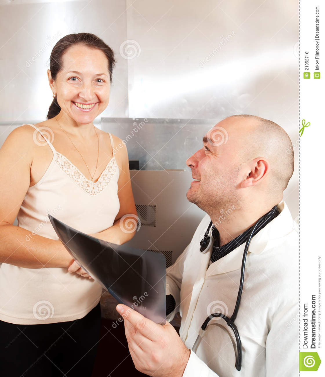 Male Doctor Examining The Patient Stock Photo - Image -8532