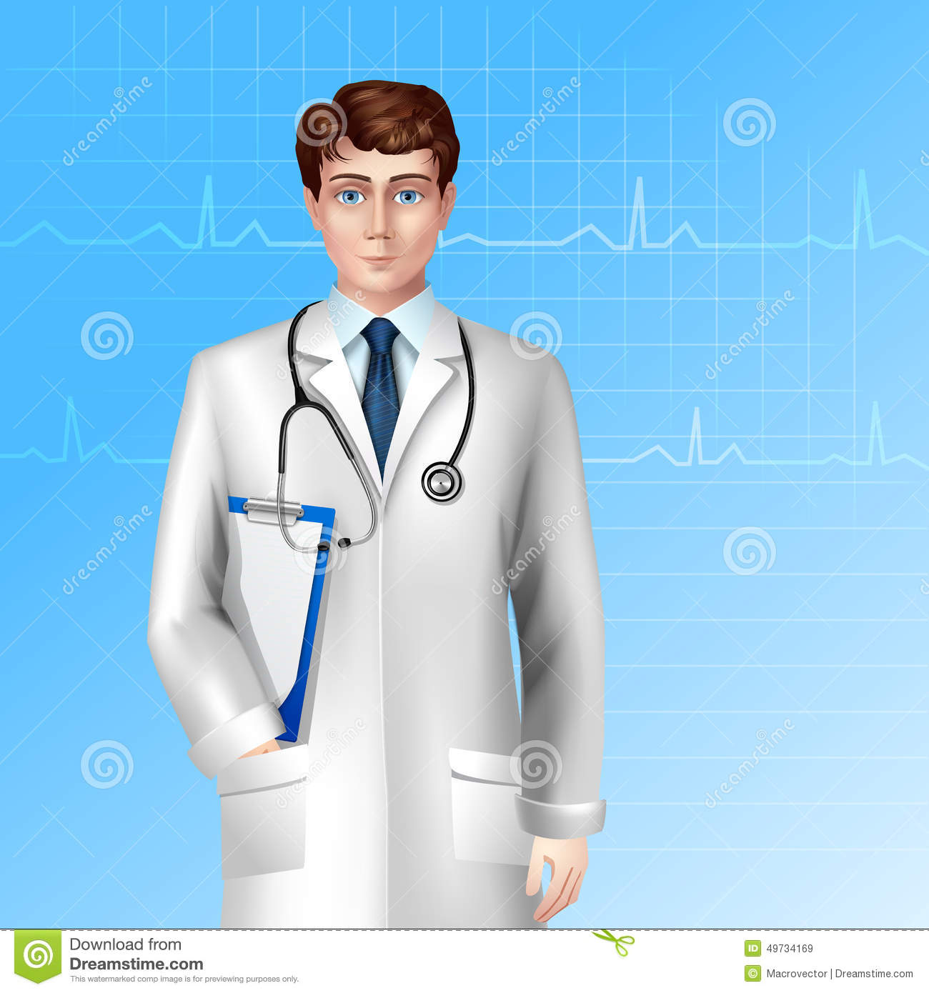 Male Doctor Poster