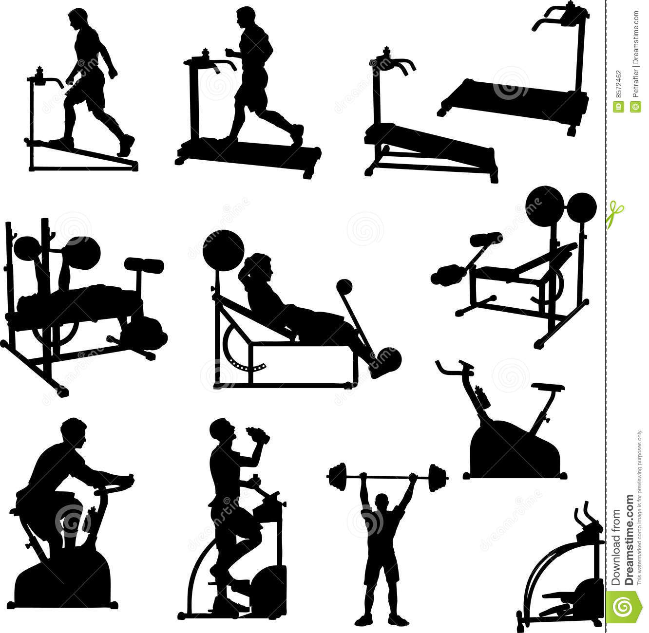 Workout Photography: Male Excercise Silhouettes Stock Vector. Illustration Of
