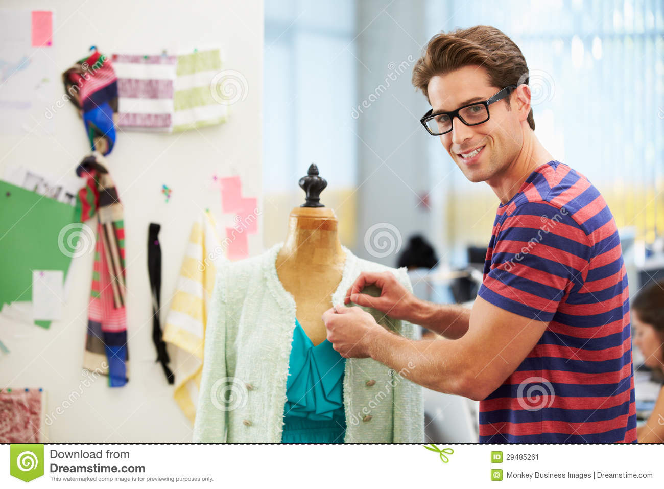 Male fashion designer in studio stock image image 29485261 Contemporary fashion designers