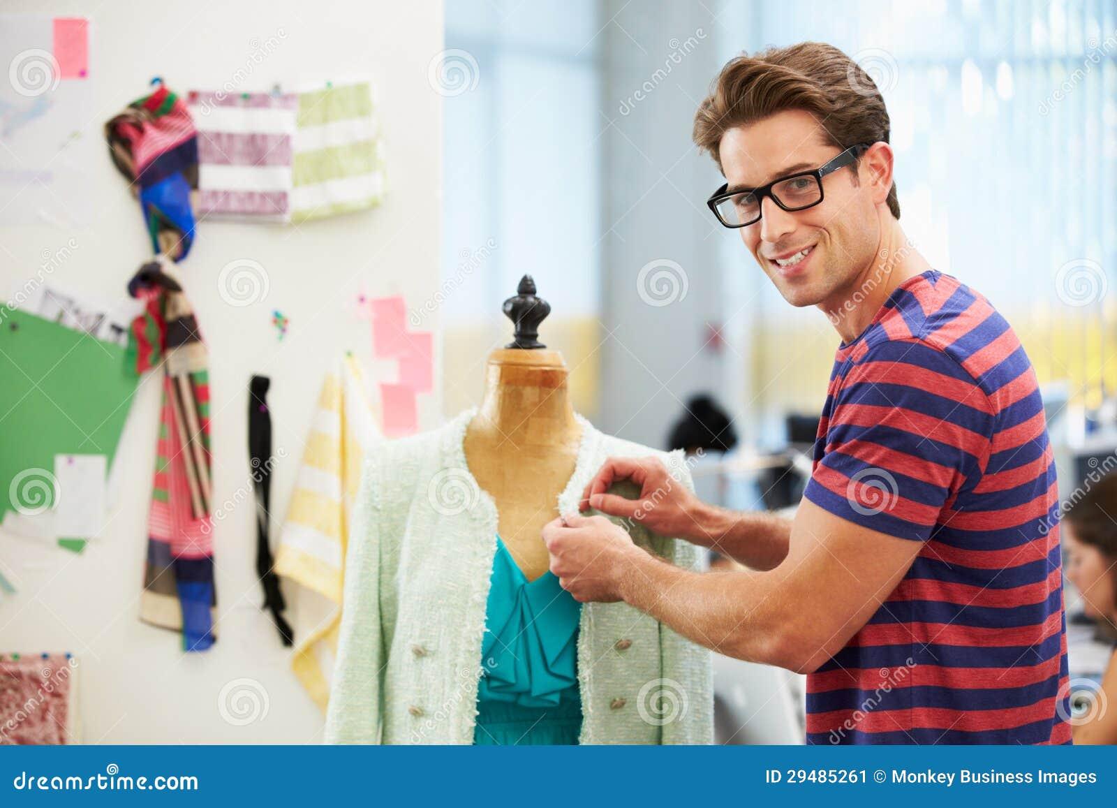 Male Fashion Designer In Studio Stock Image - Image: 29485261
