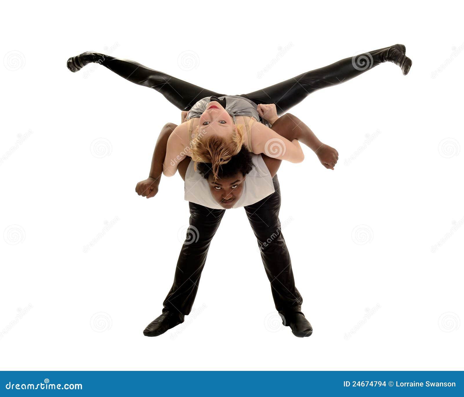 ... Dancer Performing Jazz Dance Lift Stock Images - Image: 24674794