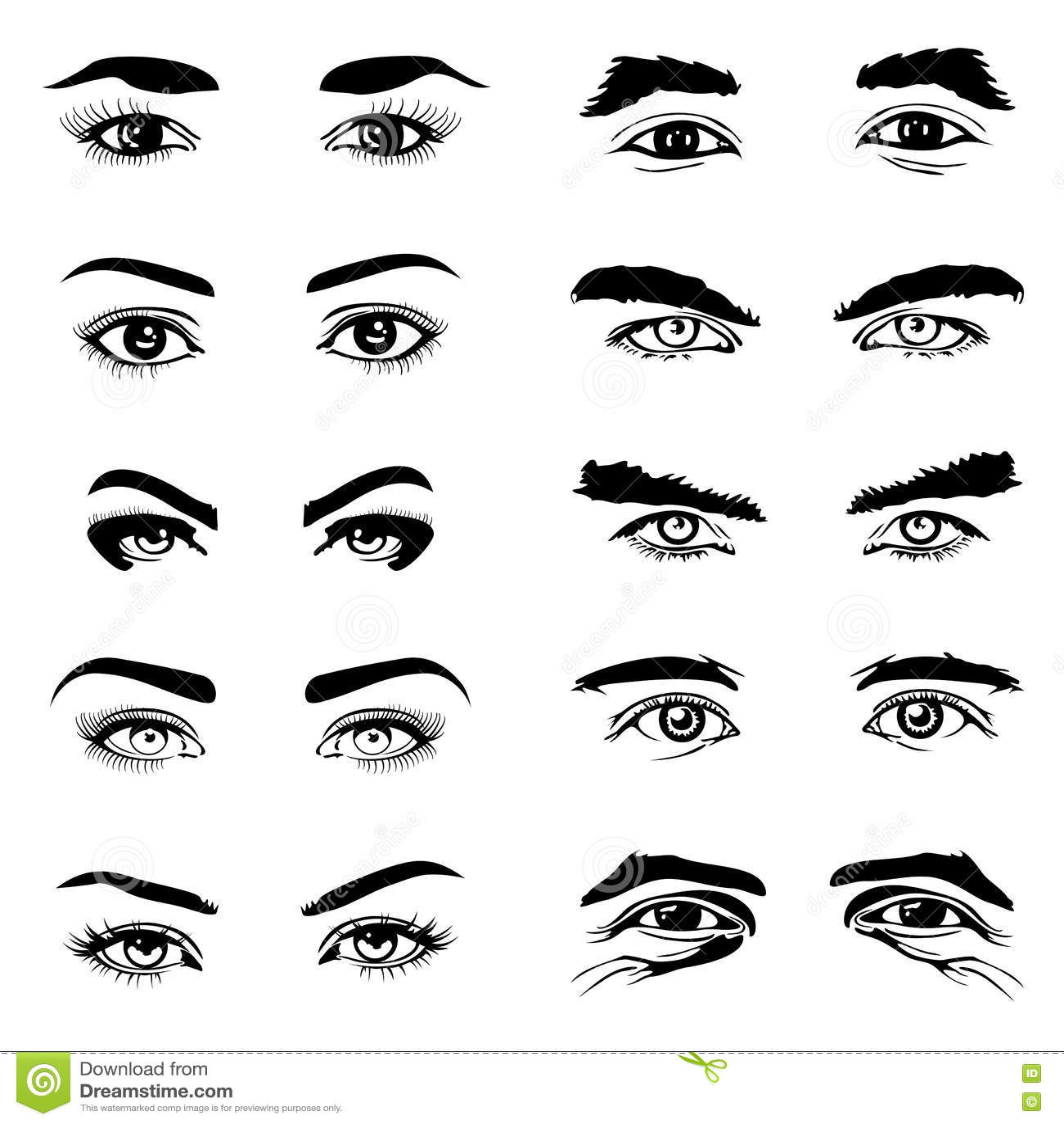 El fisiko, como expresion de ti. - Página 2 Male-female-eyes-eyebrows-vector-elements-human-eyeball-look-illustration-76223708