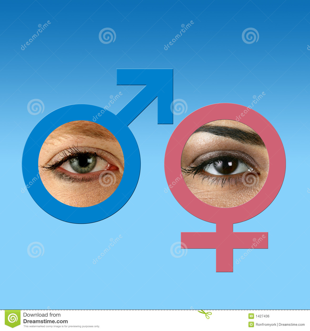 male and female eyes on grad blue royalty free stock image Eye Doctor Cartoons eye clinic clipart