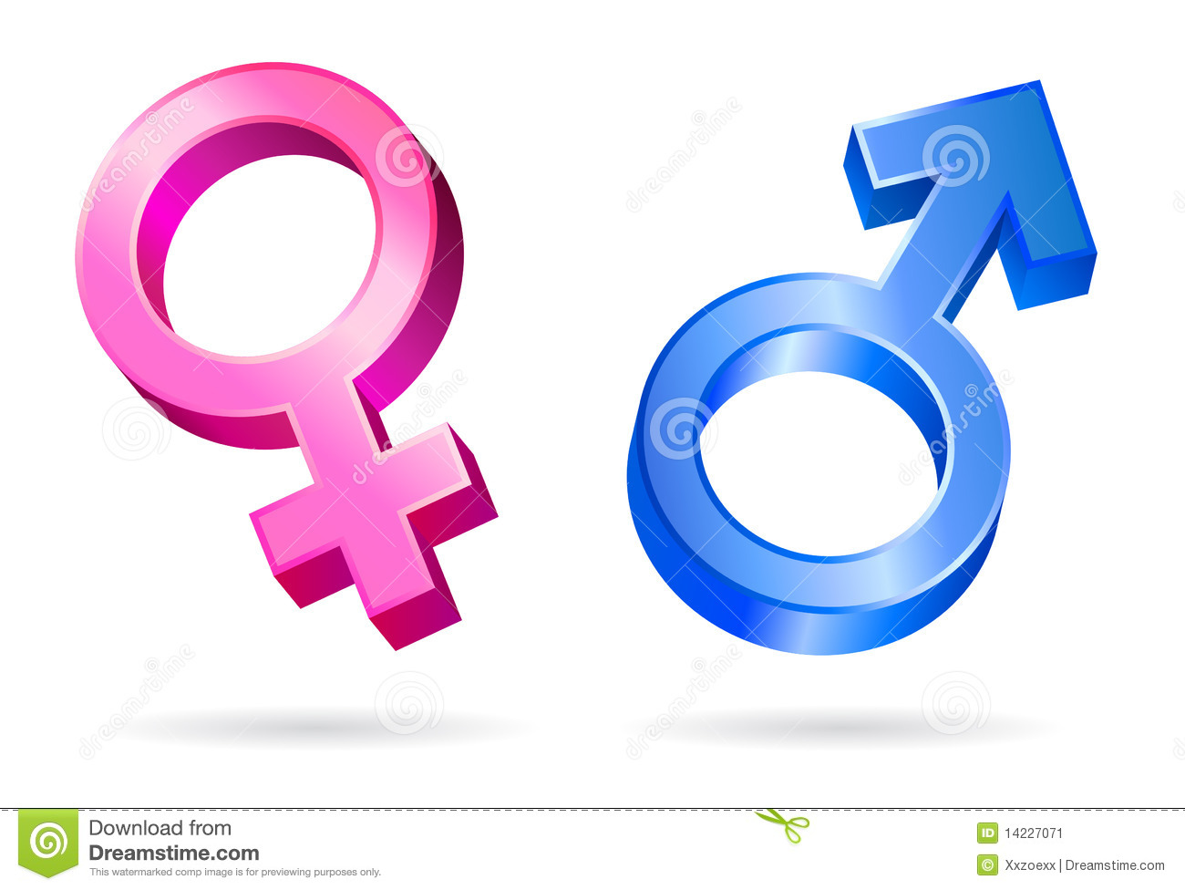 Male Female Gender Symbols Stock Vector Illustration Of Contrasts
