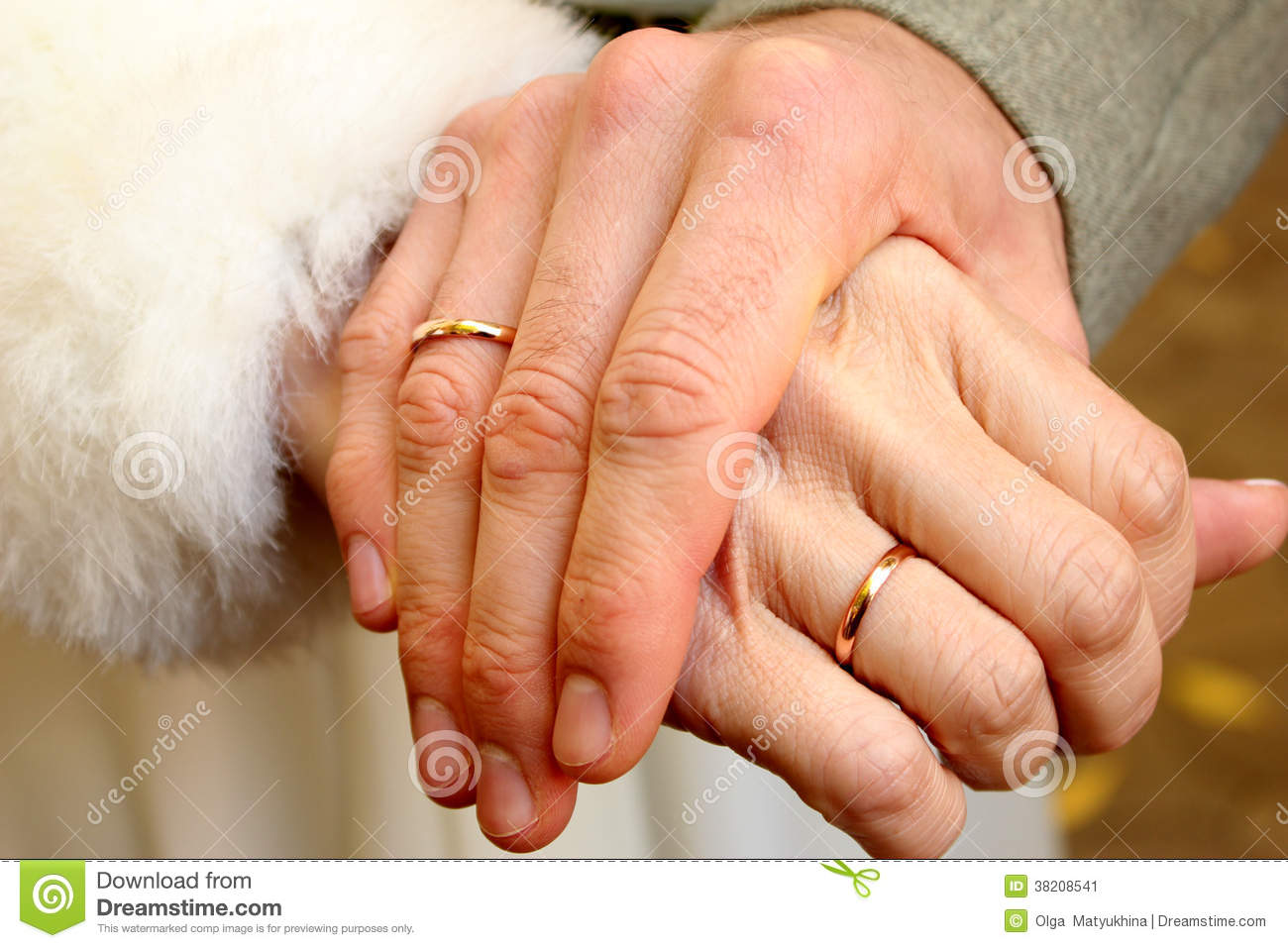 Male And Female Hands With Wedding Rings Stock Image Image of gray