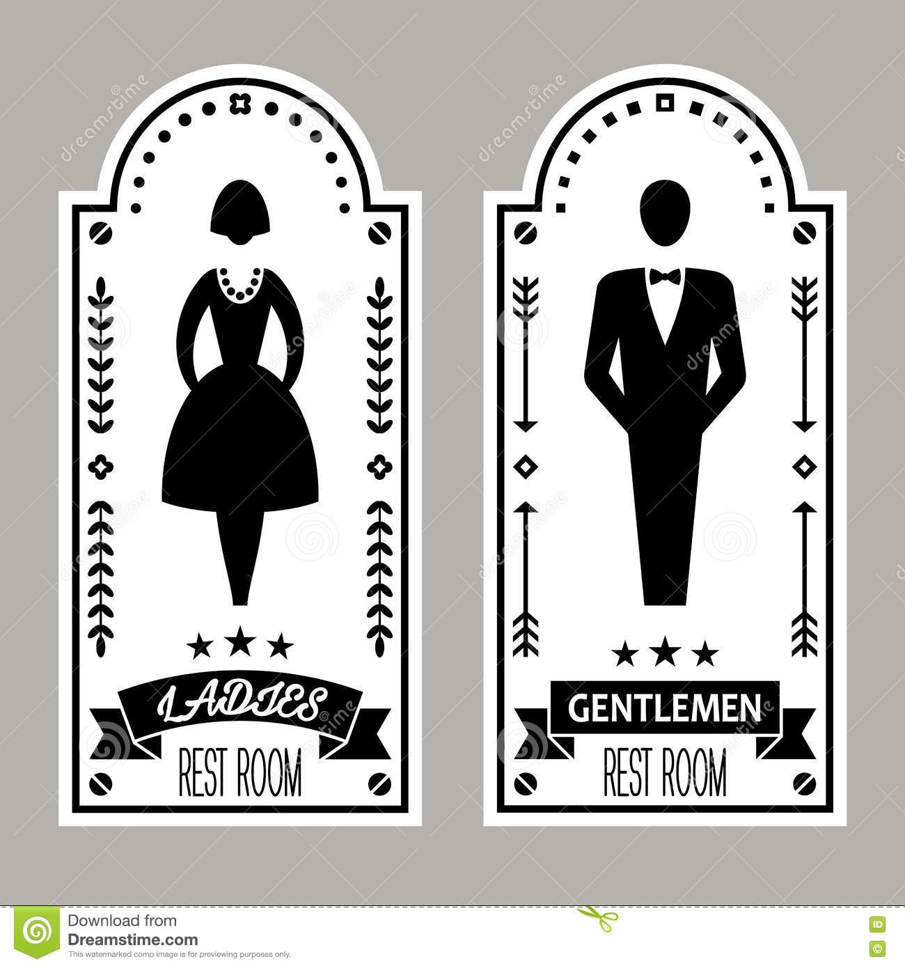 New Ladies Bathroom Sign Vector Decorating Design Of Free Vector - Ladies bathroom sign