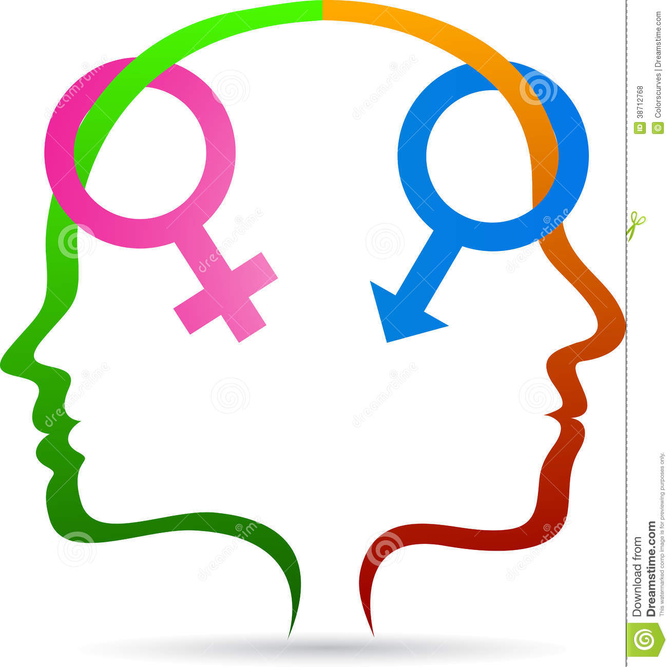 Male Female Sex Symbol Stock Vector Illustration Of Female 38712768