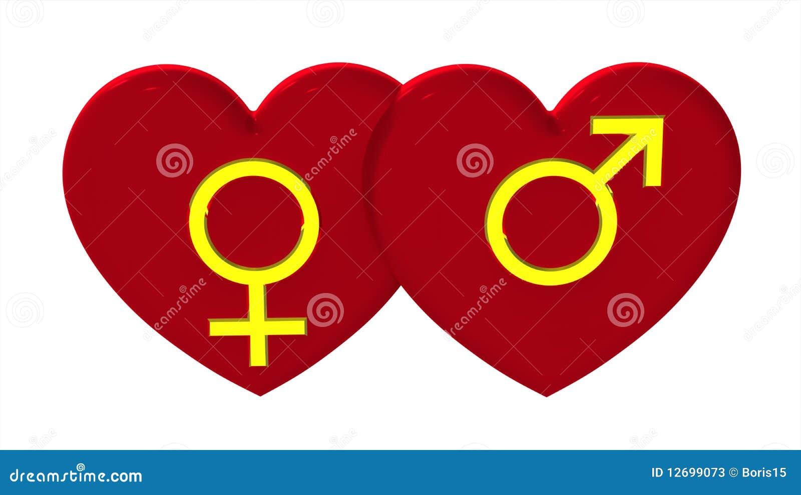 Male and female sex symbols with hearts stock illustration male and female sex symbols with hearts buycottarizona