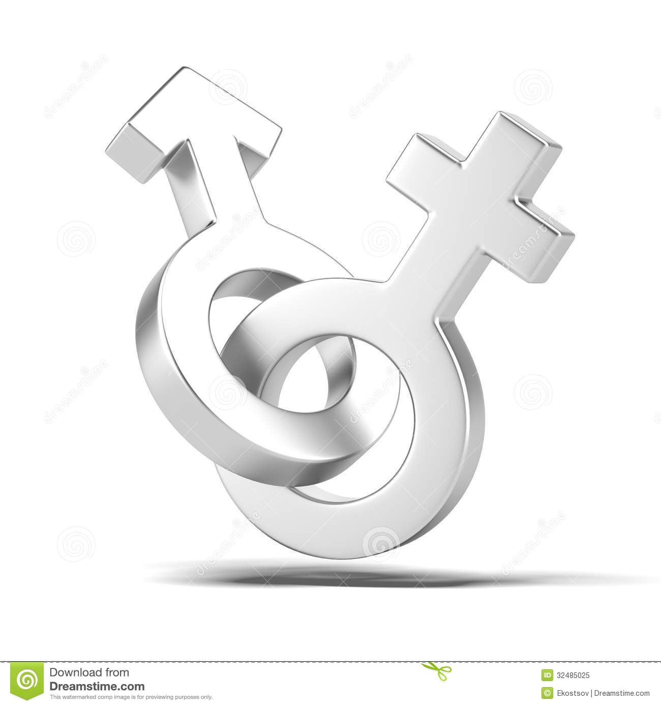 New Zealand Job Interview Male And Female Sex Symbols Royalty Free Stock Photo