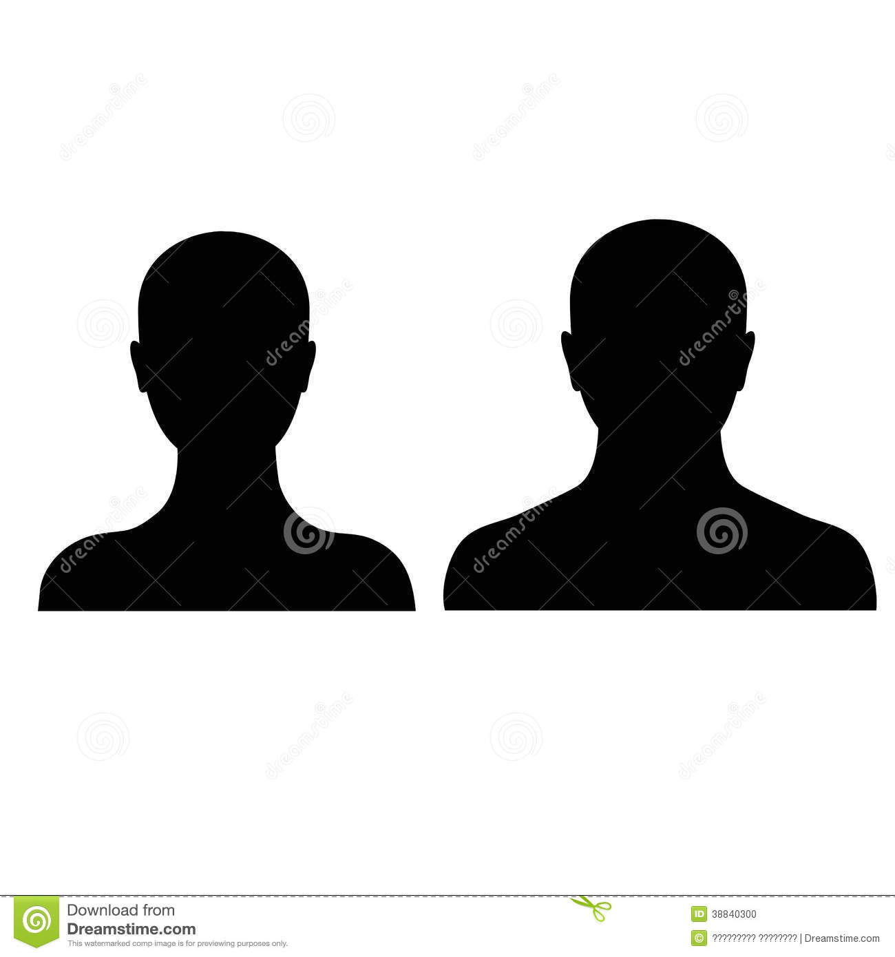 male and female silhouette on a white background stock vector