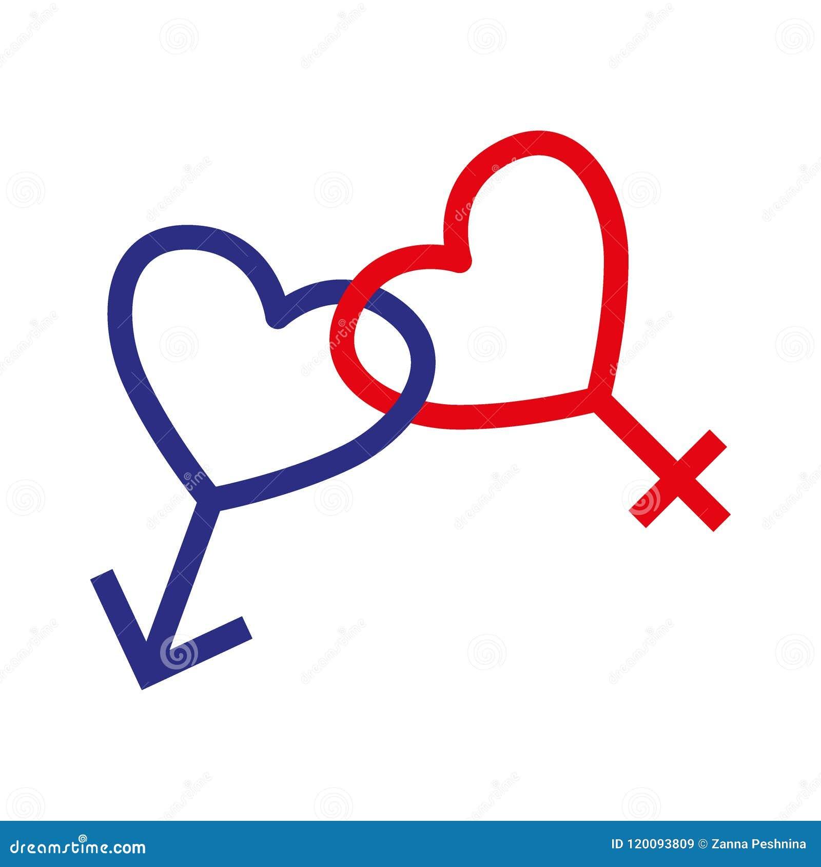 Male And Female Symbol Set Logo Vector Illustration Stock