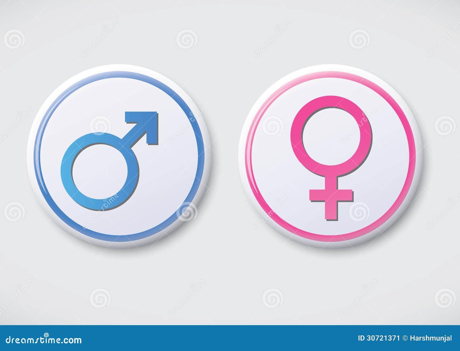 Male Female Symbol Vector Button Badge Stock Illustration