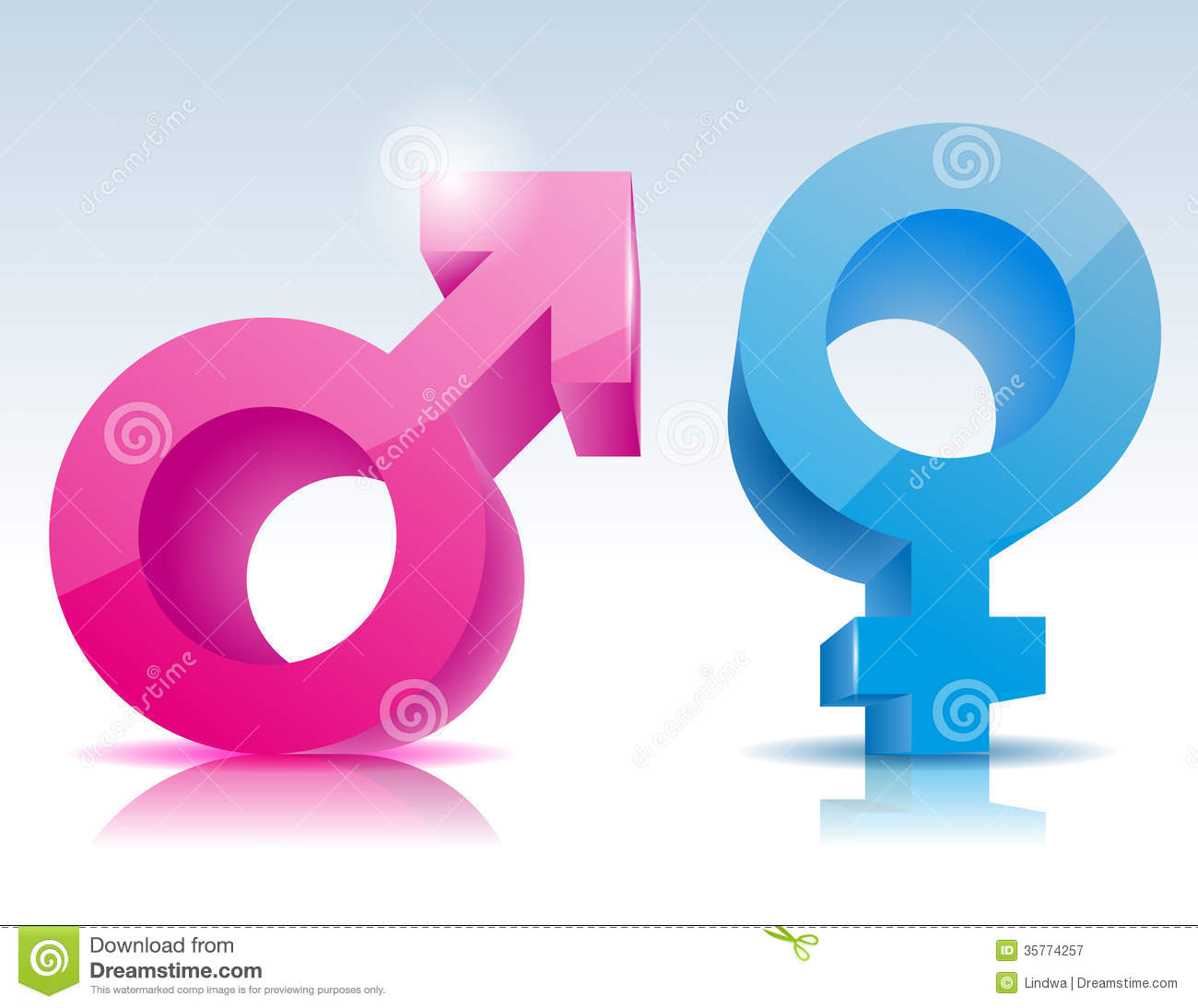 Male Female Symbol Royalty Free Stock Photography - Image: 35774257