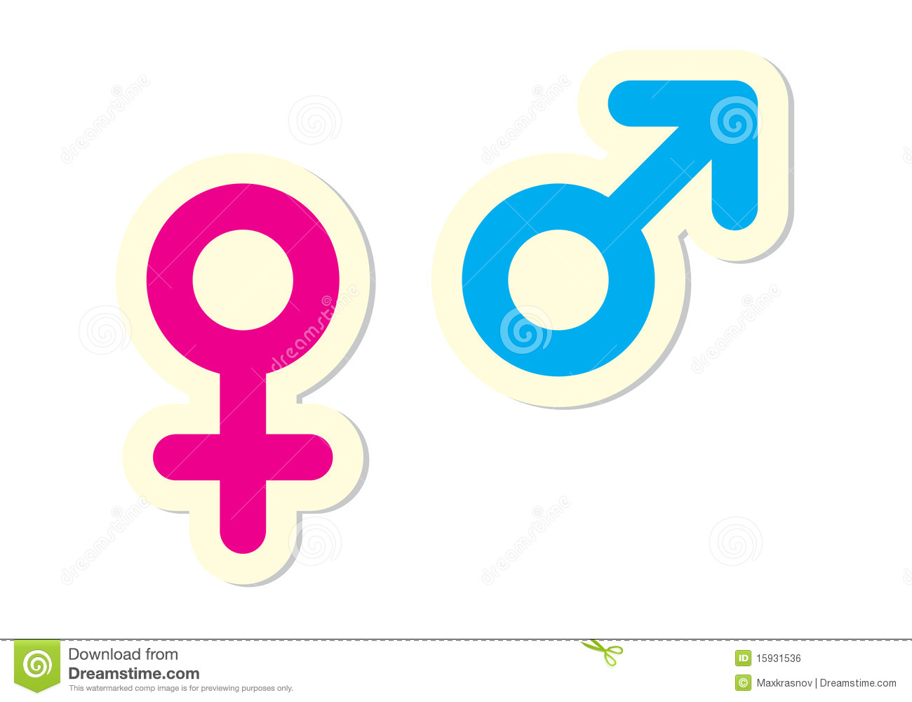 Male and female symbols stock vector illustration of girl 15931536 male and female symbols buycottarizona