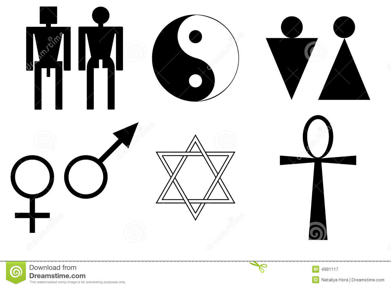 Male And Female Symbols Stock Vector Illustration Of Judaism 4991117
