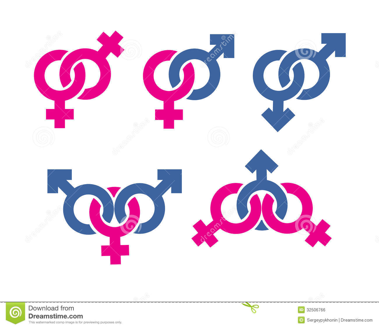 Male And Female Symbols Combination Royalty Free Stock Image ...