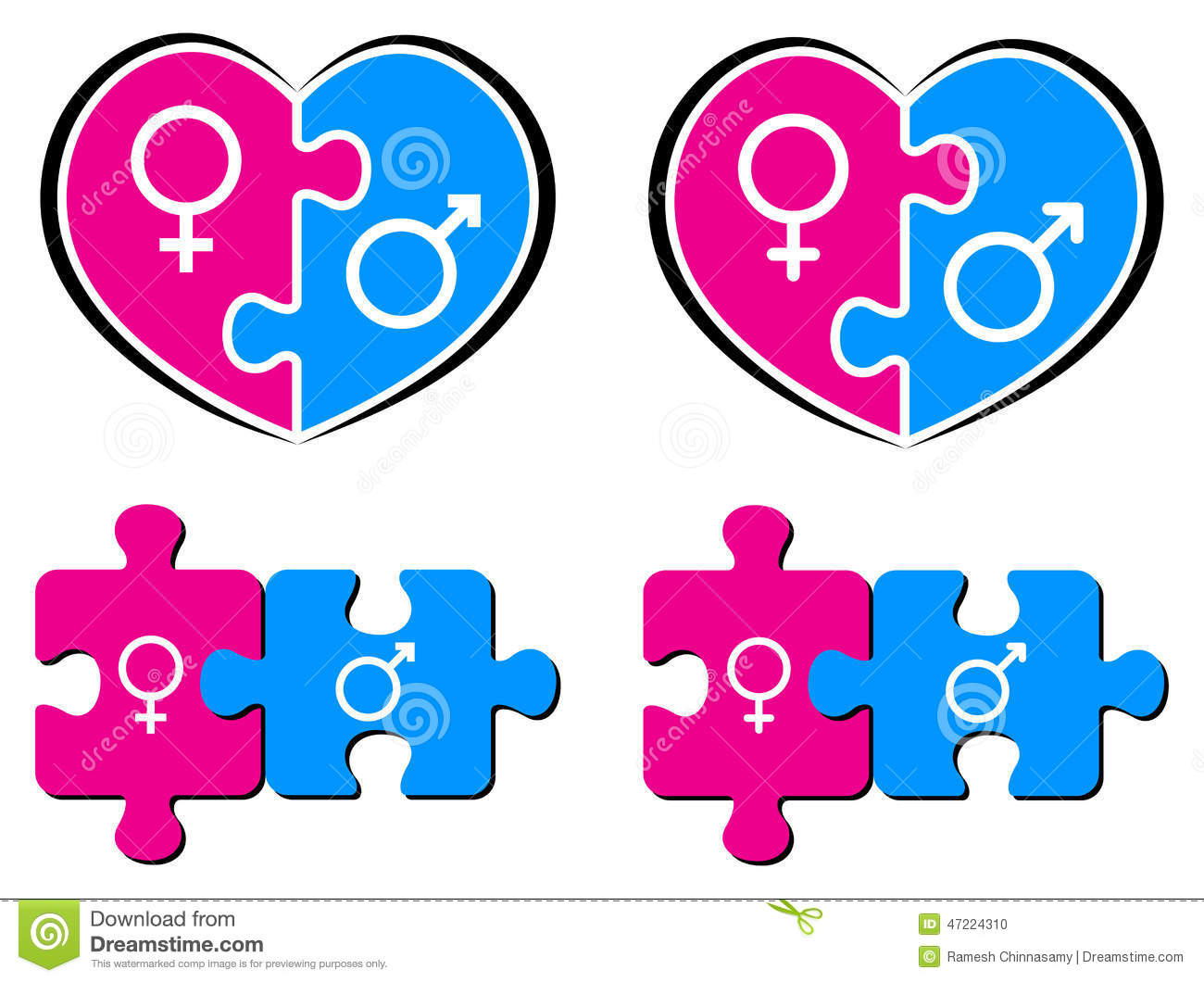 Male And Female Symbols Stock Vector. Image Of Colors