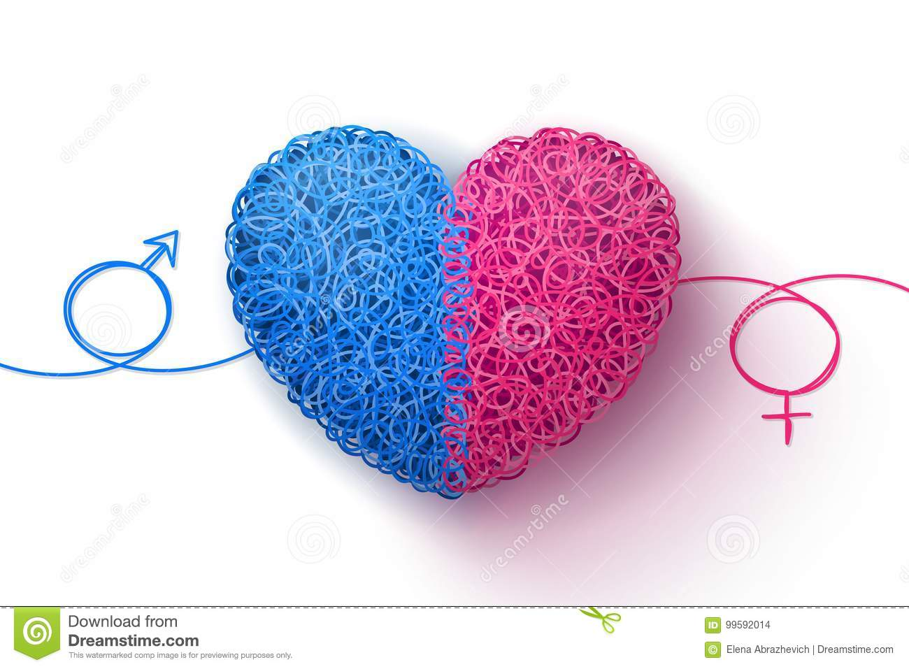 Male and female symbols and heart stock illustration male and female symbols and heart biocorpaavc Choice Image