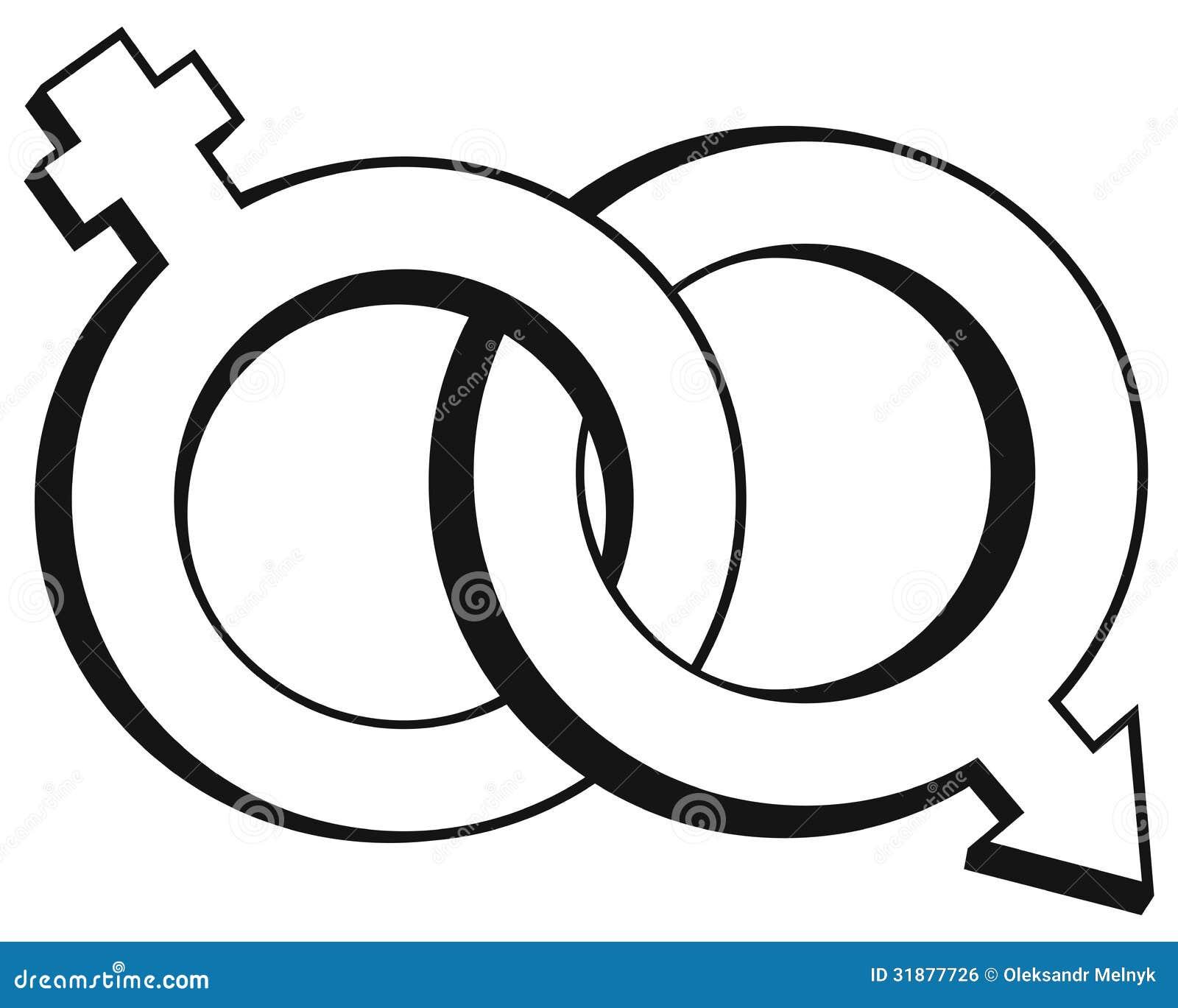 Male And Female Symbols Royalty Free Stock Image - Image: 31877726