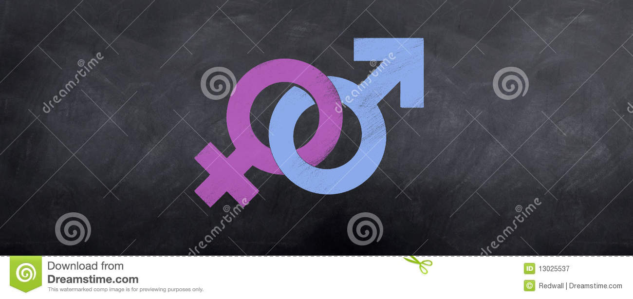 Male And Female Symbols Meet Stock Illustration Illustration Of