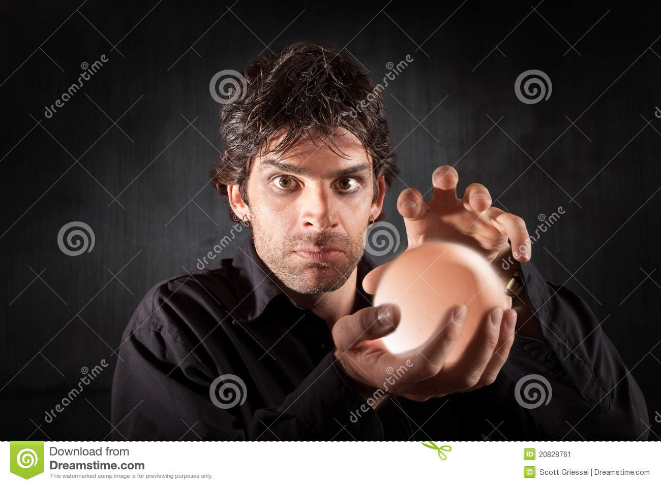 Male Fortune Teller Stock Image - Image: 20828761