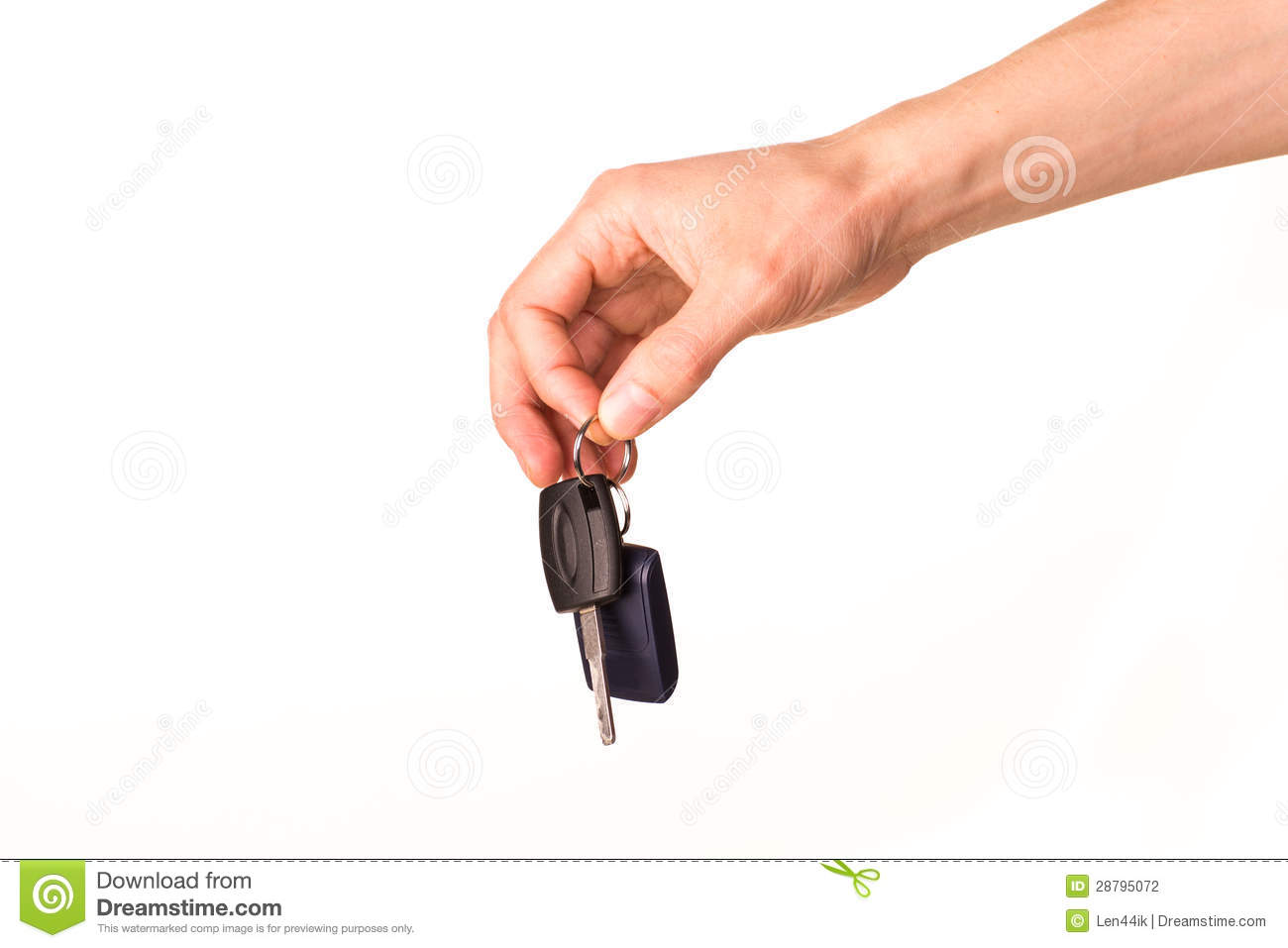 Car Remote Key >> Male Hand Holding A Car Key Stock Photography - Image ...