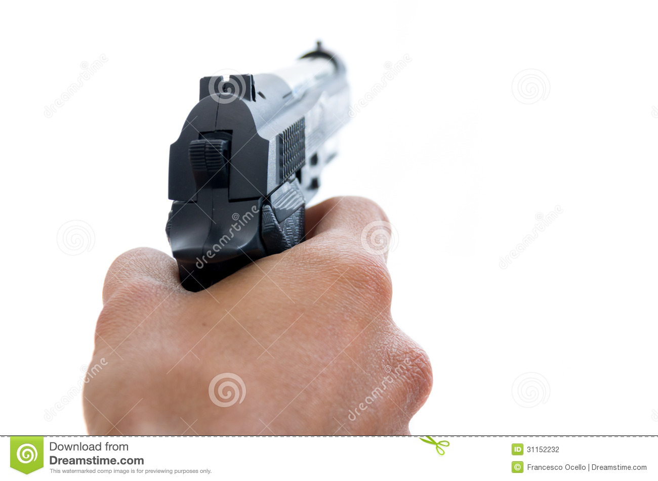 Male Hand Holding A Pistol Stock Photography - Image: 31152232