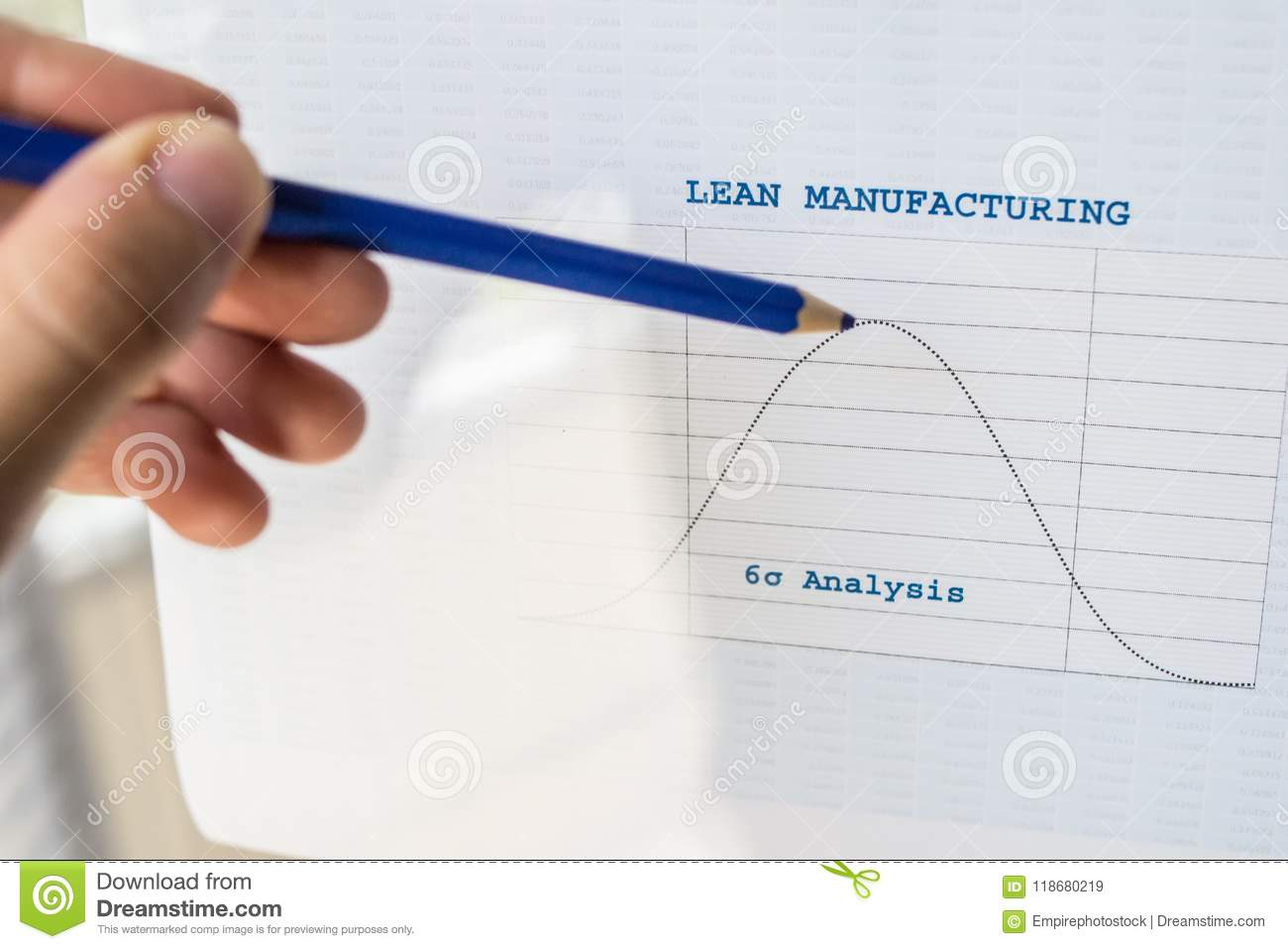 Lean Manufacturing Six Sigma Chart Stock Image - Image of ...