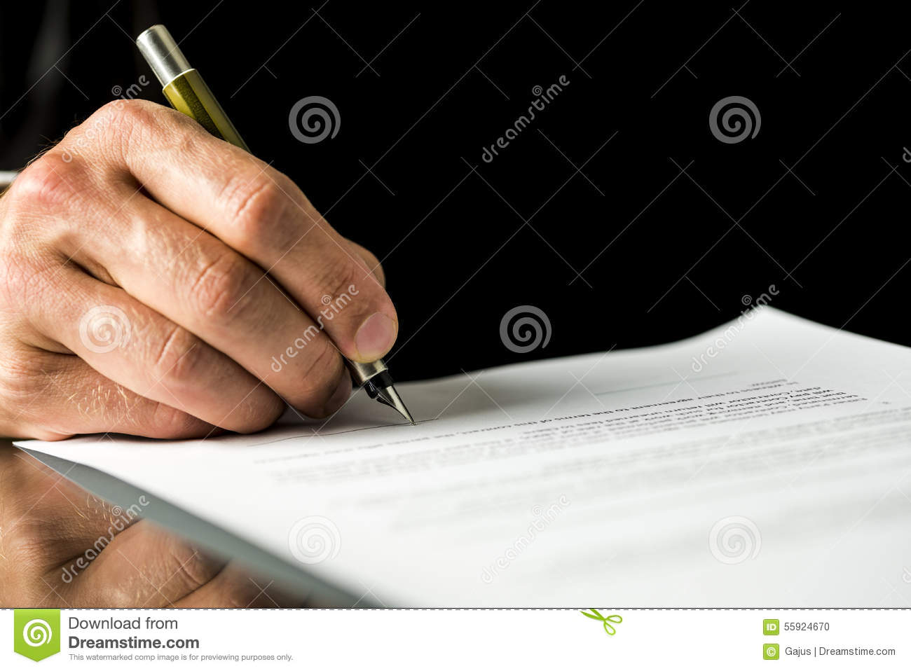 Male Hand Signing A Contract Employment Papers Legal Document - Signing legal documents