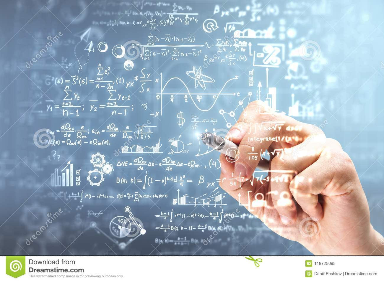 Science And Algebra Concept Stock Image - Image of equation ...