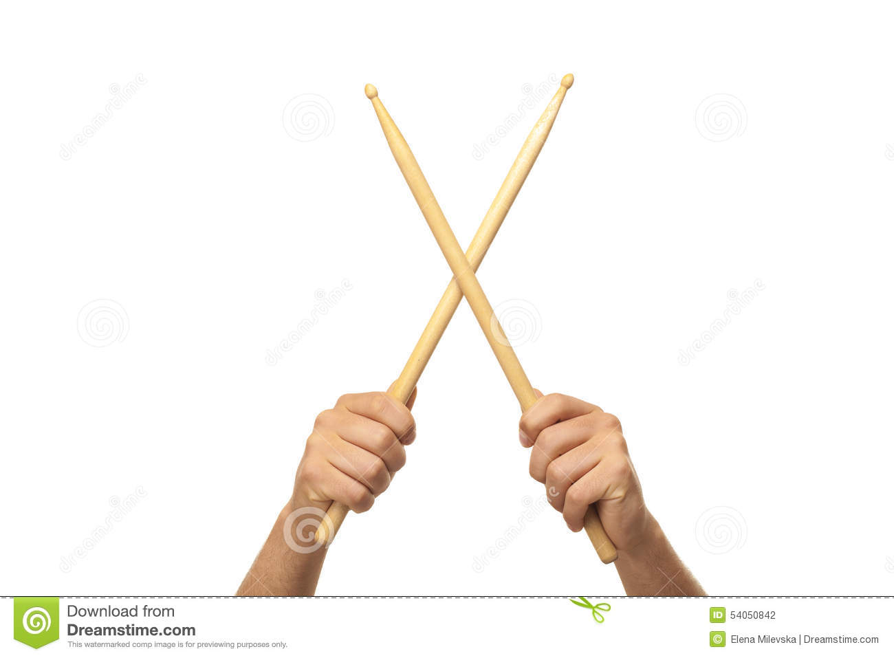 Hand Holding Stick ~ Male hands holding drum sticks stock photo image