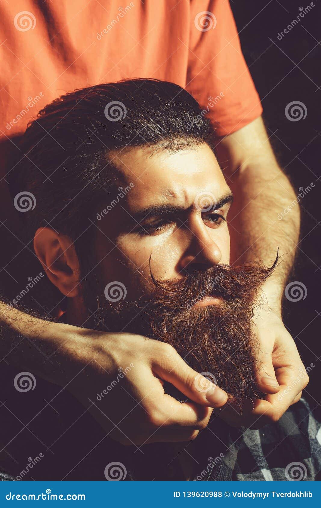 Male hands styles beard