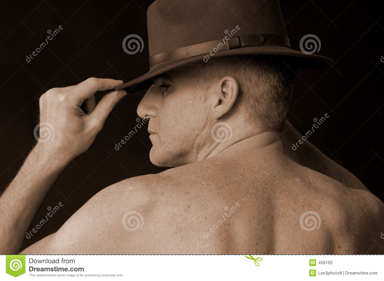 Male with hat