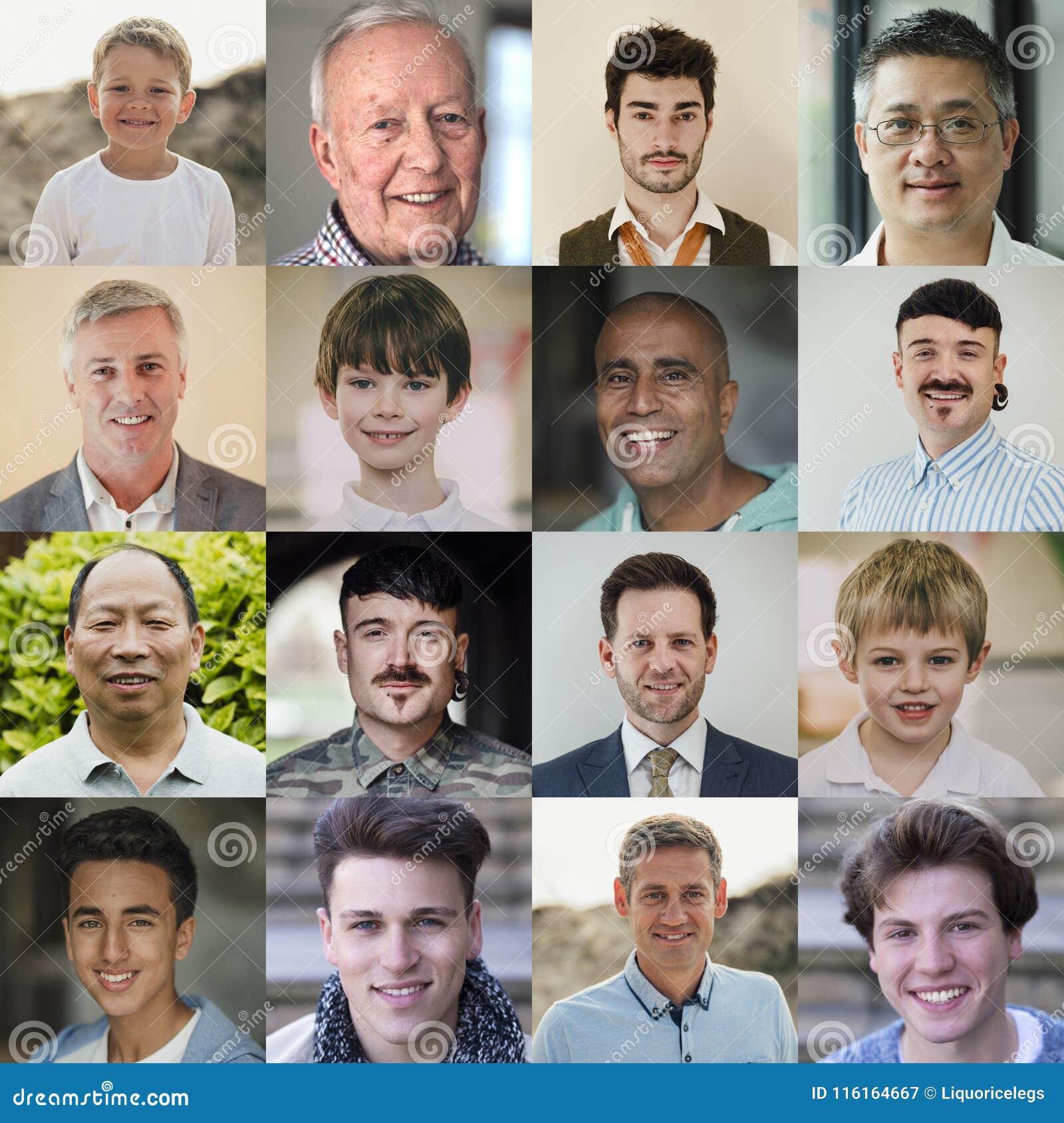 Male Headshot Collage