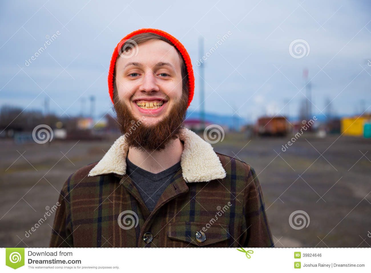 Male Hipster Fashion Portrait Stock Photo - Image of ...