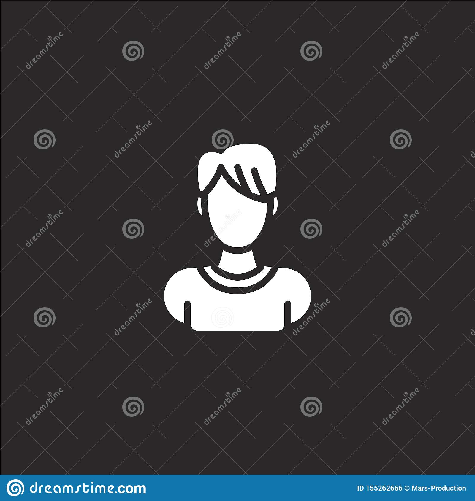 male icon. Filled male icon for website design and mobile, app development. male icon from filled profile placeholders collection