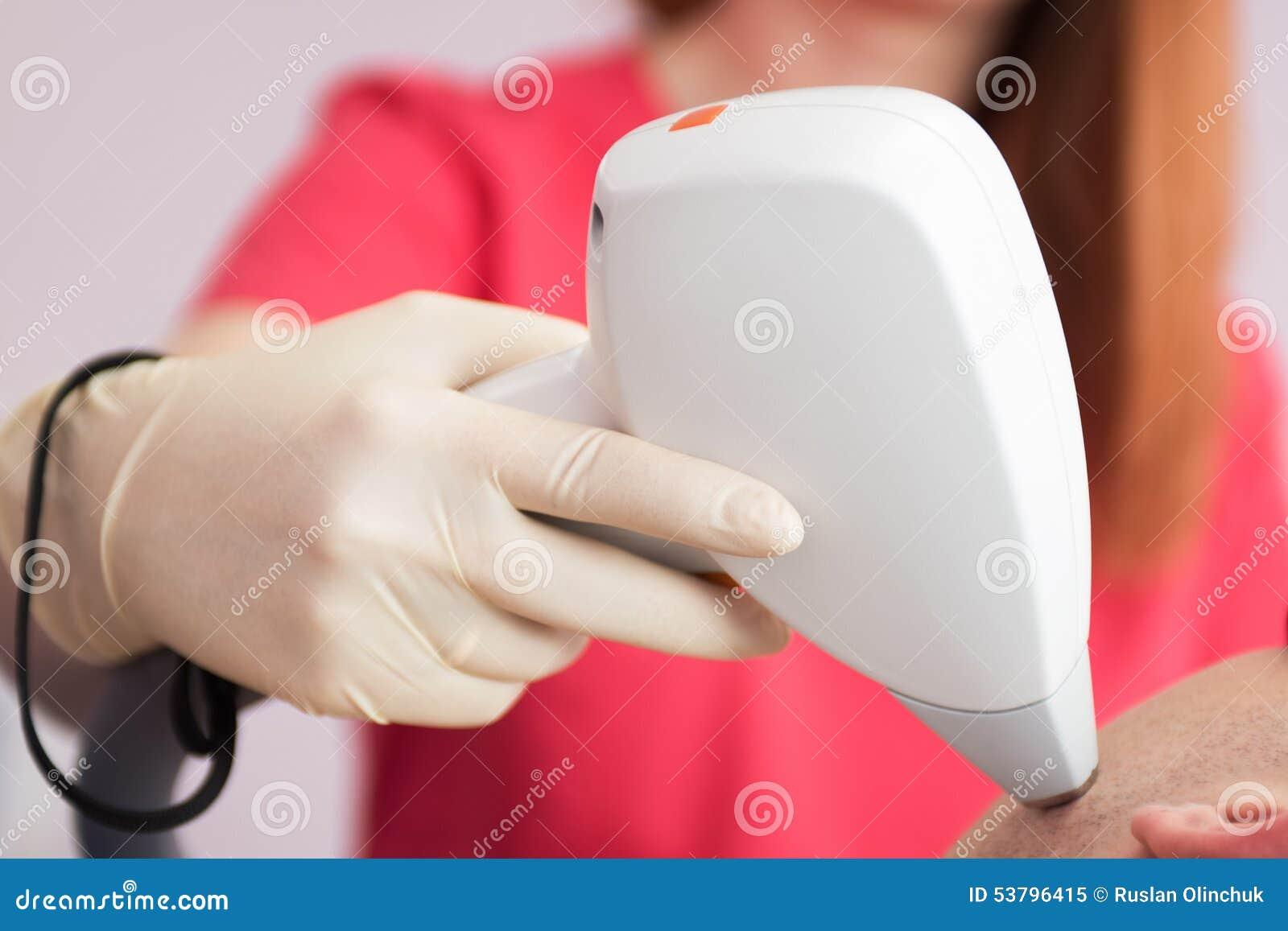 male laser epilation stock photo image 53796415. Black Bedroom Furniture Sets. Home Design Ideas
