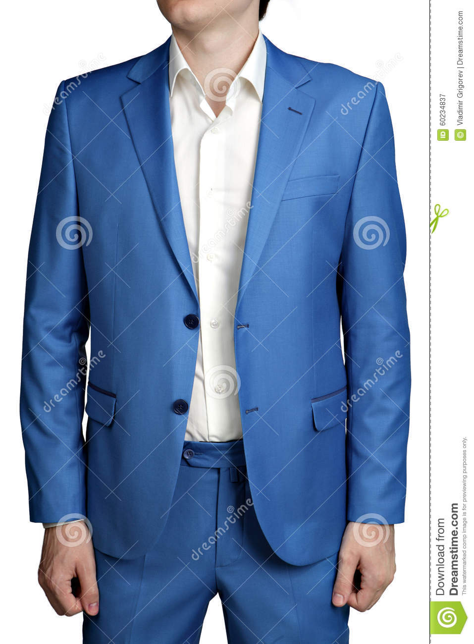 Male Light Blue Wedding Suit Groom, Unbuttoned Jacket, Two Butto ...