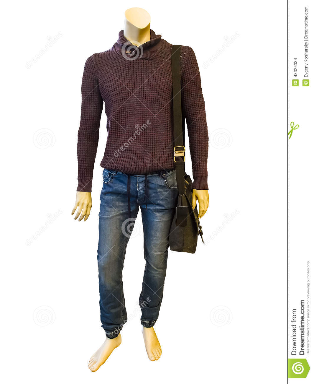 male mannequin dressed in casual clothes stock photo