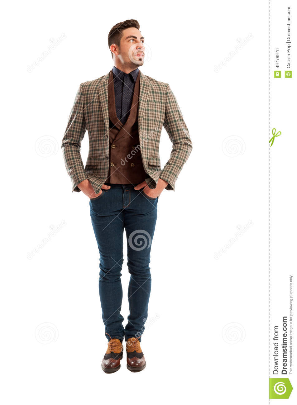 male model wearing casual clothes stock photo image
