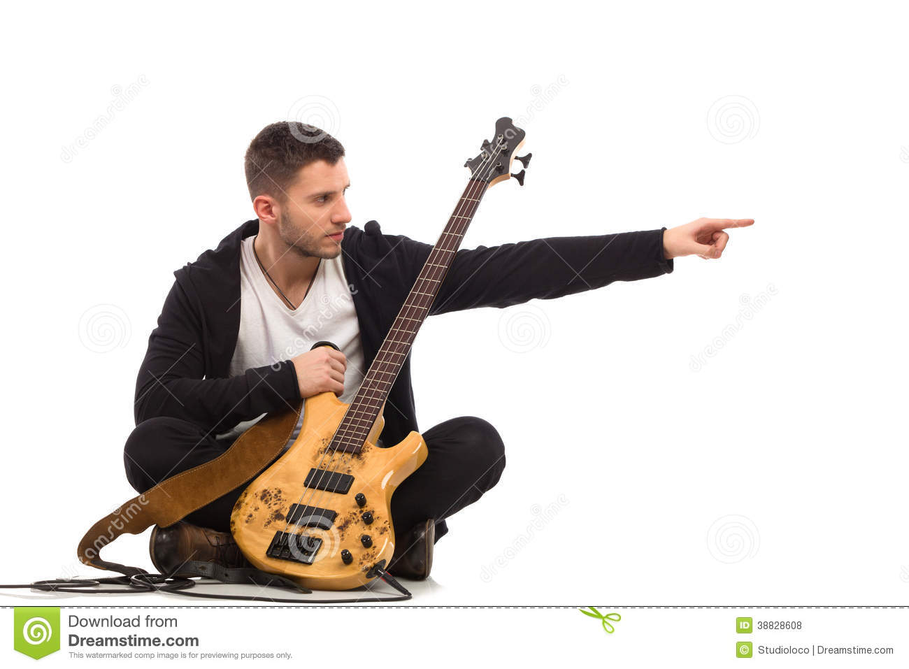 Photography Studio Floor Plans Male Musician Pointing Stock Photo Image 38828608
