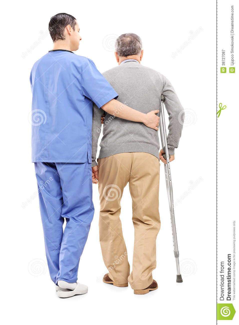 Male Nurse Helping An Elderly Gentleman Royalty Free Stock Photography ...